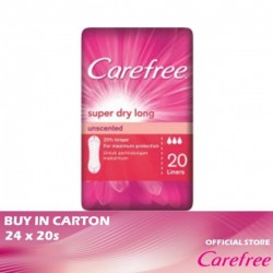 Carefree Super Dry Long Unscented 24 x 20s